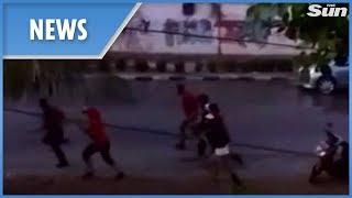 Indonesia: new footage of the tsunami crashing into shore