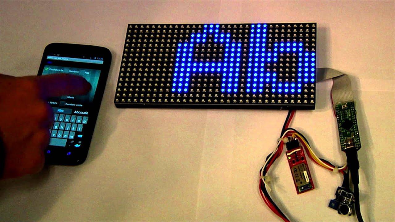 16x32 Rgb Arduino Led Matrix T Shirt Youtube