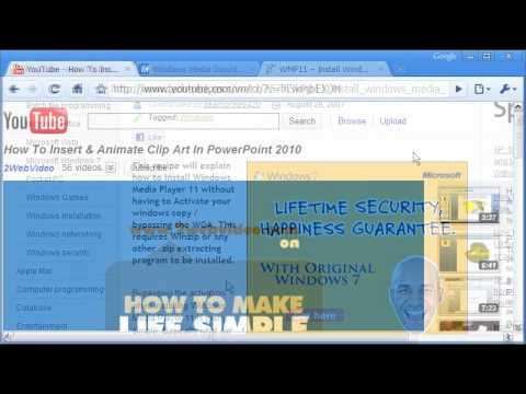 Embed Online Video From YouTube To PowerPoint 2010