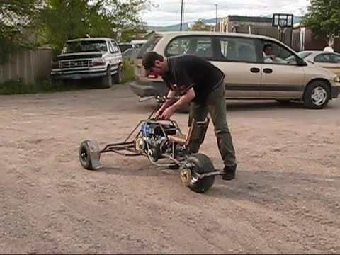 █ ( 1st test drive ) Go kart Reverse Trike Build #29-2 █