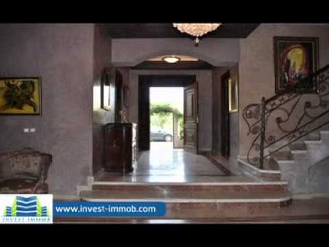 Achat villa luxe marrakech immobilier youtube for Achat maison en tunisie