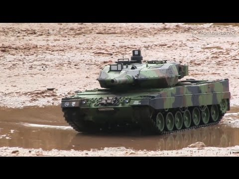 RC Battle Tank Leopard 2 A6 Bundeswehr Panzer Heng Long 1:16 licmas-tank