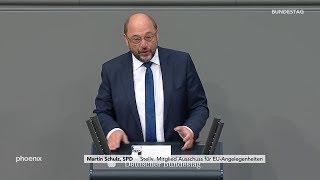 Martin Schulz SPD zur RegierungserklГrung von Angela Merkel zum EuropГischen Rat am 17.10.19
