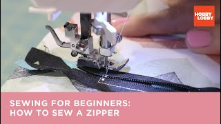 Learn to Sew: How to Make a Zipper Closure