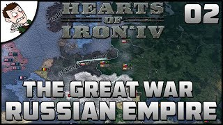 World War One Begins! The Great War Mod - Hearts of Iron 4 Part 2 Gameplay