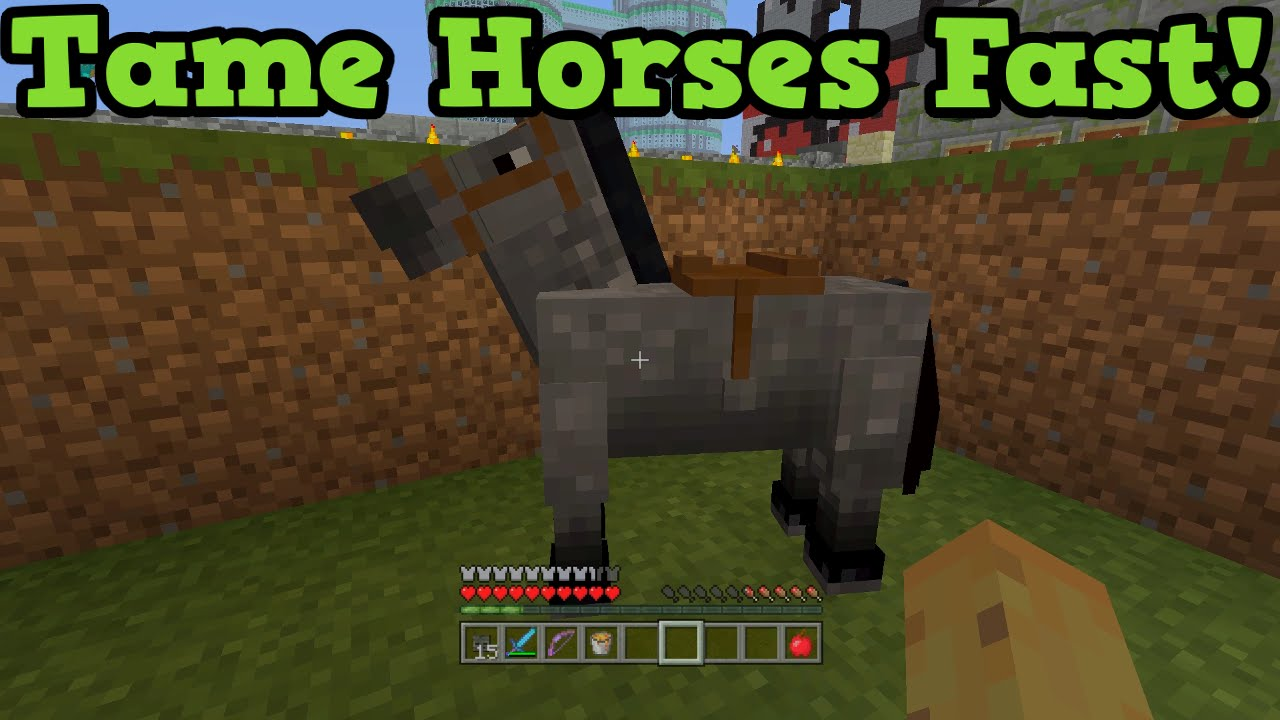 How to Tame a Horse in Minecraft PC
