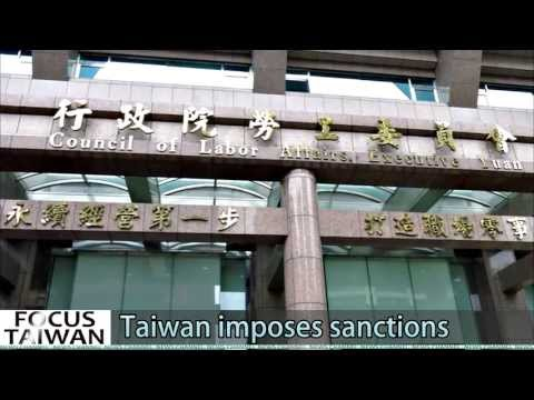 Taiwan imposes sanctions