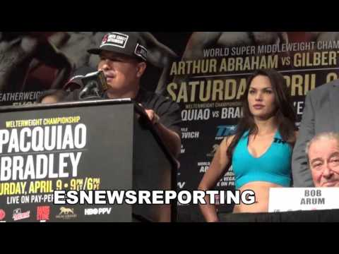 Robert Garcia and Gradovich at pacquiao-bradley 3 presser EsNews Boxing