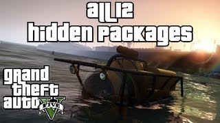 Grand Theft Auto 5 Hidden Package Locations - GTA V All 12 Hidden Packages