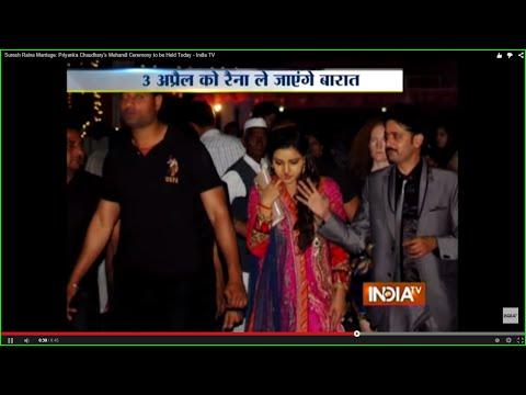 Suresh Raina Marriage: Priyanka Chaudhary's Mehandi Ceremony to be Held Today - India TV