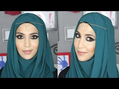 Arabic Eyes Full Face Makeup Tutorial With Amenakin| Paula Durance video