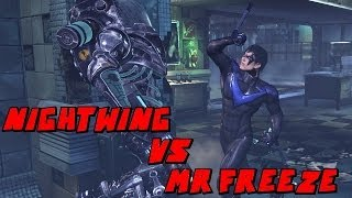 Batman Arkham City Nightwing Mr Freeze Boss Fight Mod