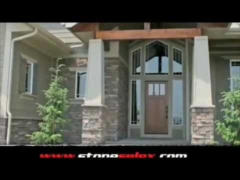 Exterior stone siding stone wall designs by stone selex for Exterior stone wall house design