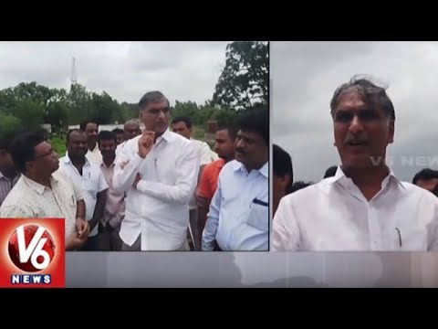 Minister Harish Rao Inspects Railway Line Works At Toopran Mandal | Siddipet | V6 News