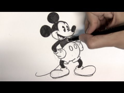 How To Draw Mickey Mouse Step By Things