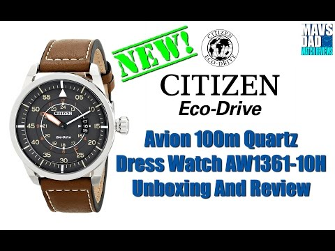 Citizen Avion 100m Quartz Dress Watch AW1361-10H Unboxing And Review   Great looking!