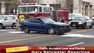 Traffic Accident on Lyon and Florida sends one female to hospital