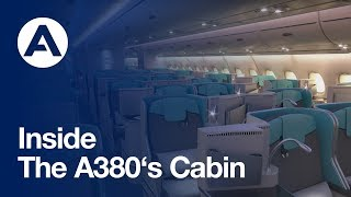 inside the a380s cabin