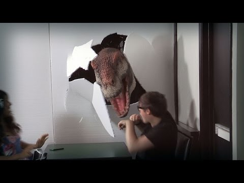 Jurassic Prank - Okay, who let the T-Rex into Youtube Space LA? (Episode 8)