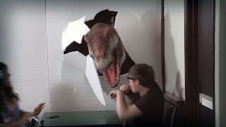 Youtubers and Reality TV Stars Pranked by Dinosaur!