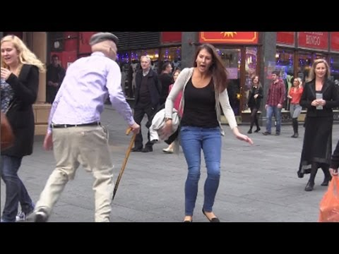 Psycho Old Man Scare Prank! - Britain's Most Wanted