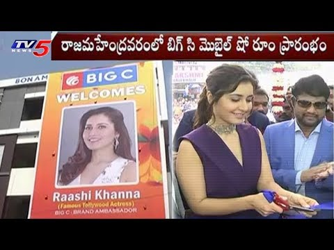 Rashi Khanna Launches Big C Mobile Showroom In Rajahmundry | TV5 News