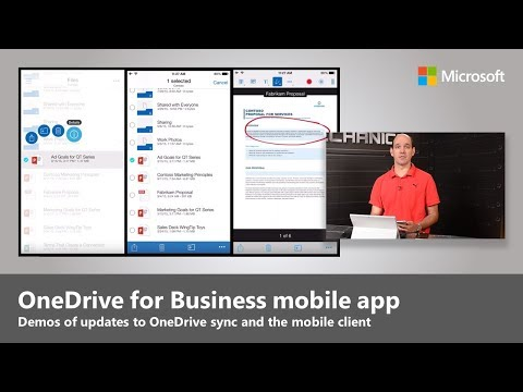 OneDrive for Business: Demo tour of updates to sync client, mobile and web