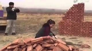 Girl construction skill amazing must watch #WhatsUp #53