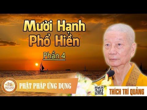 Mười Hạnh Phổ Hiền (Phần 4)