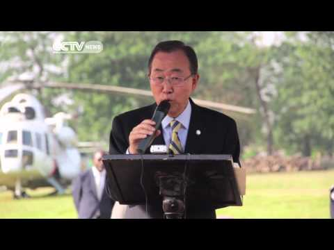 Ban Ki-Moon Tours Ebola-Hit West African Countries