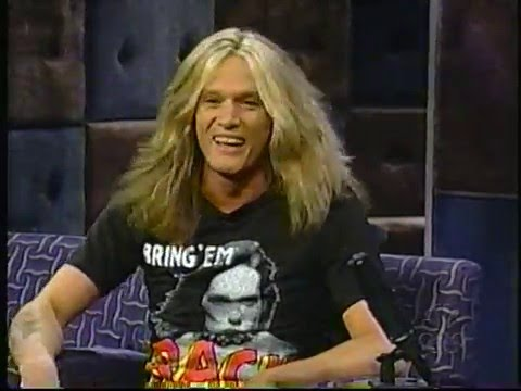 Sebastian Bach Late Night WIth Conan O'Brien 2000
