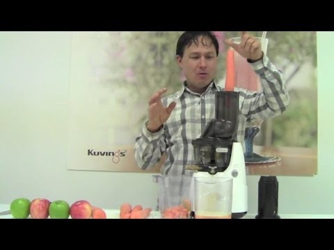 Kuvings Whole Slow Juicer Juicing Carrots and Apples