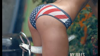 Hot Girl Shot in the Butt with Hot Dogs - SLOW MOTION! 4th of July Edition