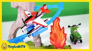Disney Planes Fire & Rescue Wildfire Rescue Playset Toy with Firefighter Dusty