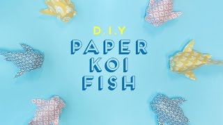 Qanvast DIY: Paper Koi Fish
