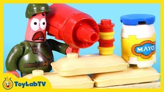 SpongeBob Sponge Out of Water Toys Mega Bloks Photo Booth Time Machine Pickle Tank Attack Movie