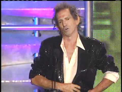 Keith Richards inducts Johnnie Johnson and James Burton Inductions 2001