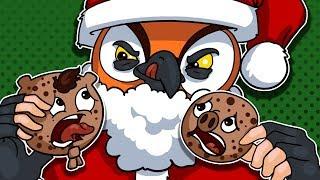 Santa and DaithiDeReindeer Want My Cookie! Cookies VS Claus!