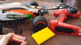 Baja Slayer Remote Control RC Buggy Car 1:12 Scale Unboxing & Test Drive