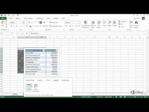 Your first excel 2013 workbook - start using excel 2013 - video 1 of 5