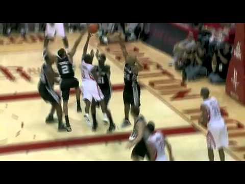 Aaron Brooks get the scoop Lay up through Spurs Defense Houston Rockets Preseason