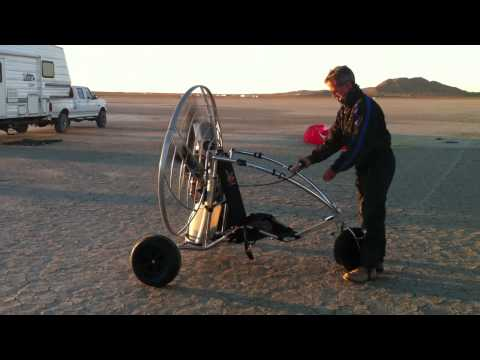 Warming up the Parajet Rotron on the TrikeBuggy Bullet
