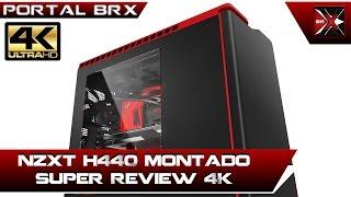 NZXT H440 Review com detalhes desse ótimo gabinete em 4K