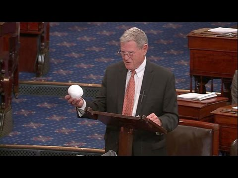 Jim Inhofe Throws Snowball on Senate Floor Attempting to Debunk Climate Change