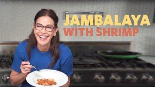 Jambalaya With Shrimp (Perfect For Parties or Hangovers)