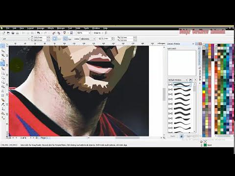 Cara Membuat Skintone WPAP dengan CorelDraw X4