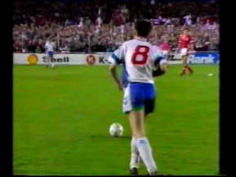 Denmark - Faroes 4-1. Euro-92 qualifiers. Part 3. Michael Laudrup's class