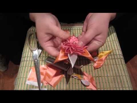 Видеоурок Цветы из лент - видео
