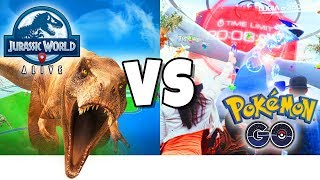 JURASSIC WORLD ALIVE  VS  POKEMON GO! New Game Like Pokemon GO with Dinosaurs! PLUS Fan Mail Opening