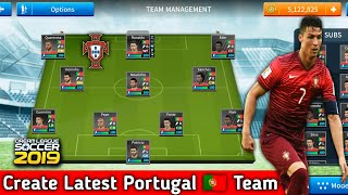 How To Create Portugal Team In Dream League Soccer 2019